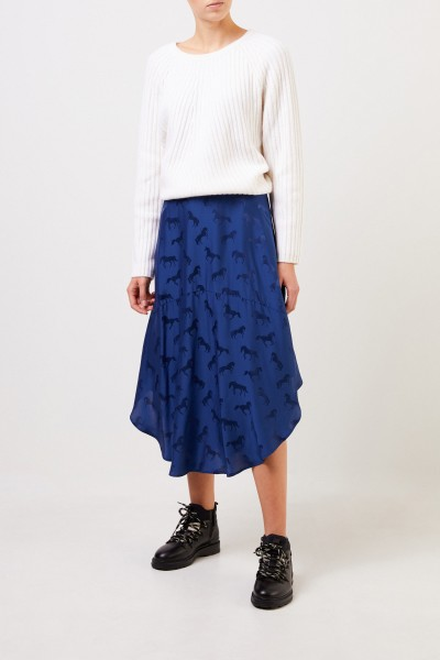 Stella McCartney Silk skirt with horse print Blue Note