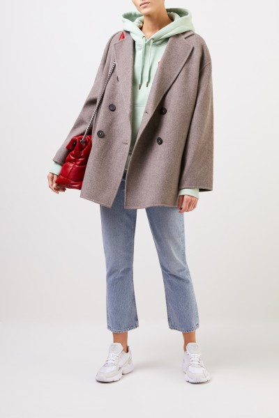 Acne Studios Short wool coat 'Odine Double' Taupe
