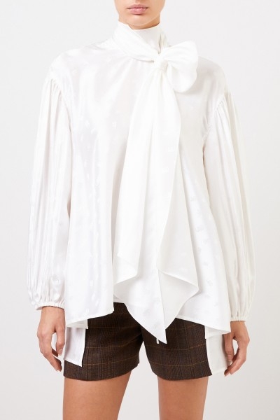 Chloé Silk blouse with bow collar White