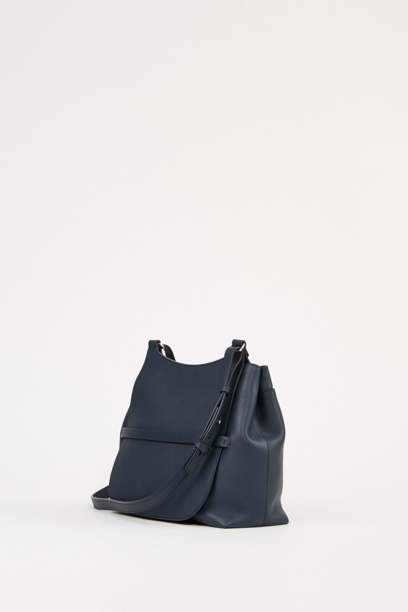 The Row Leder-Tasche 'Sideby' Blau