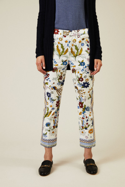 Jeans 'Erica' mit floralem Print Multi