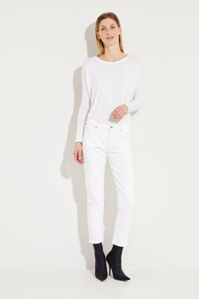 Slim Fit Crop Jeans 'Elsa' Weiß