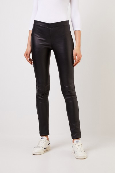 Joseph Classic leather leggings Black