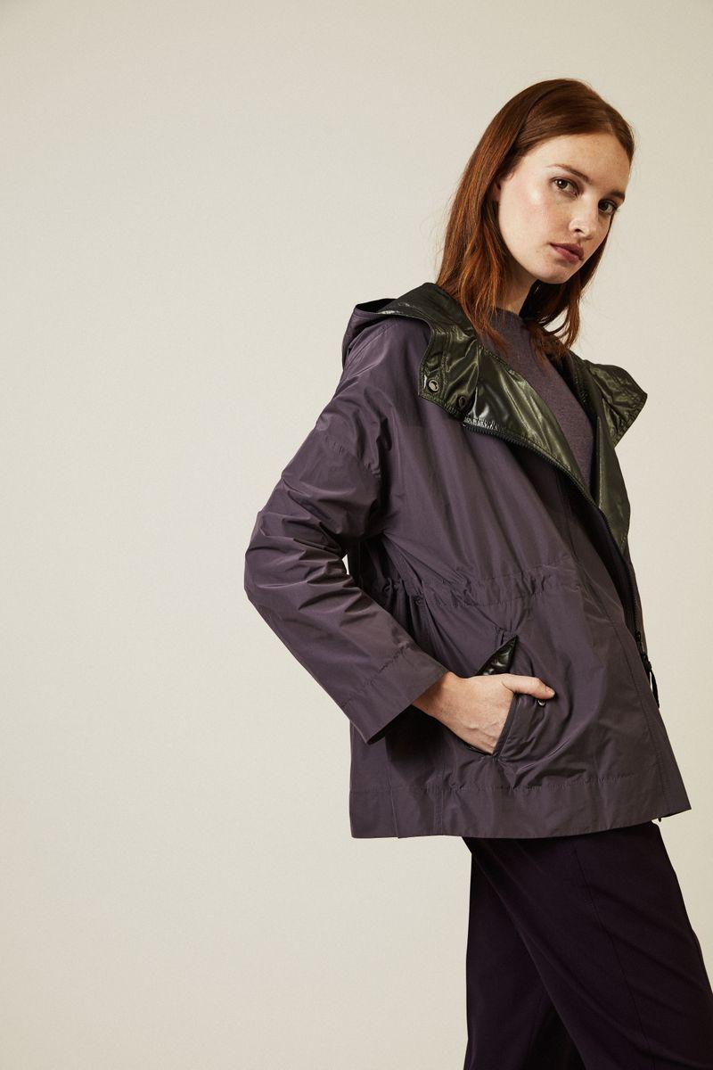 Leichte Oversize-Jacke in Violett