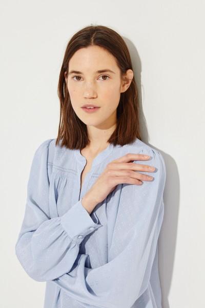 Seidenbluse 'Abbie' Blau