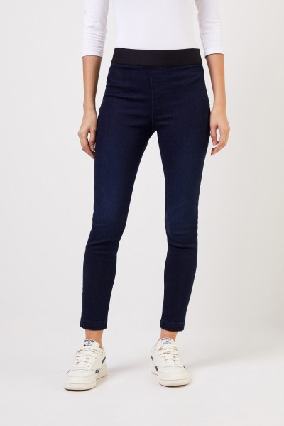 J Brand Elastic trousers 'Aster' Blue
