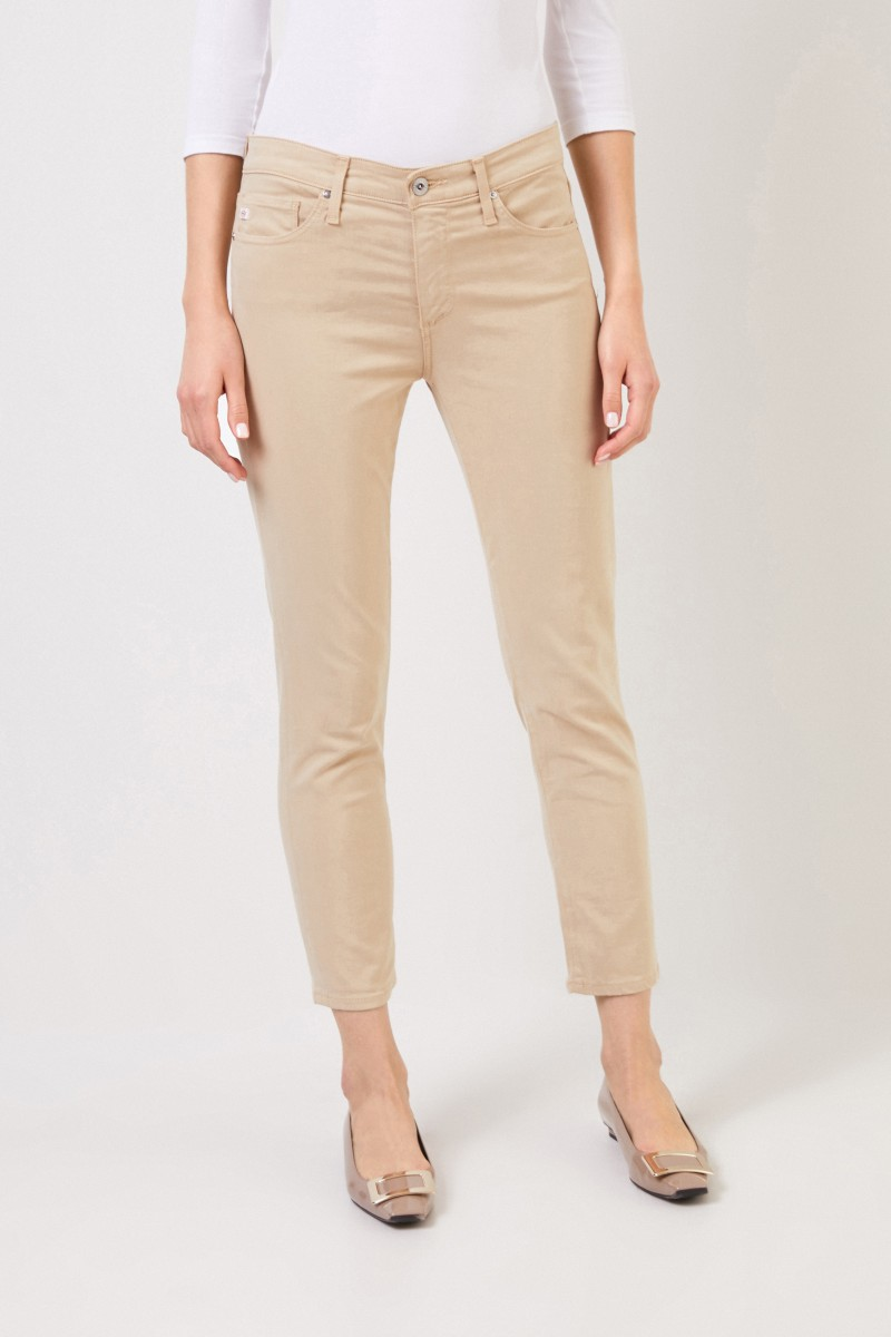 AG Jeans Jeans 'The Prima Crop' Beige