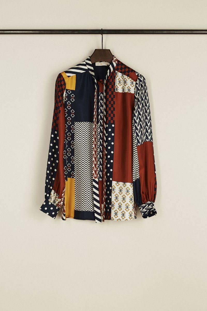 Seiden-Bluse 'Vivian' mit Print Multi