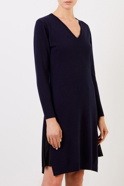 Fabiana Filippi Two-piece wool dress with plissee detail Blue