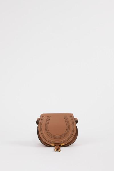 Chloé Shoulder Bag 'Marcie Saddle Small' Nut