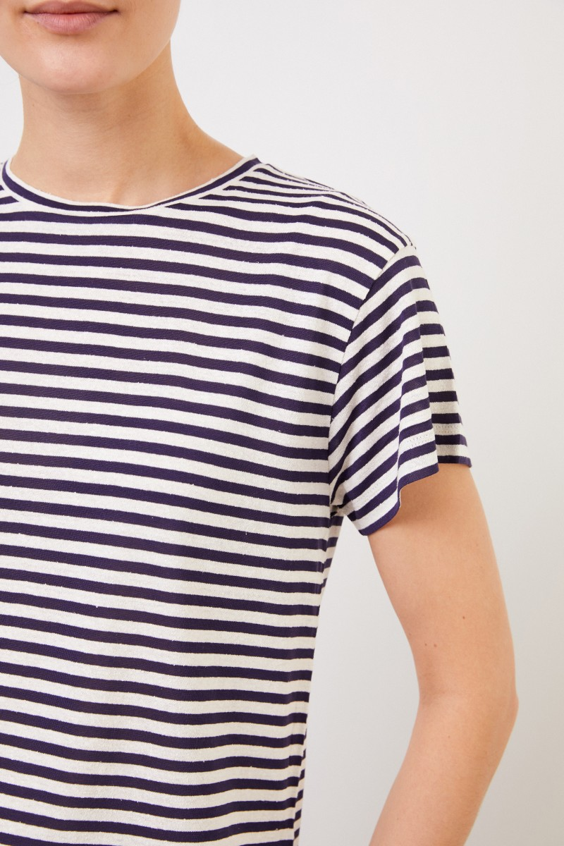 Gestreiftes T-Shirt Blau/Weiß