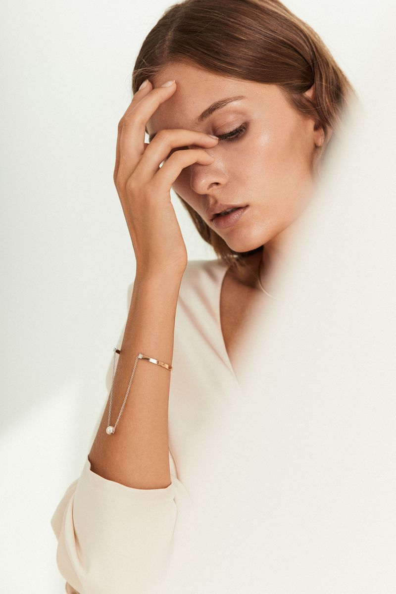 Armreif 'Two In One' mit Perle Gold