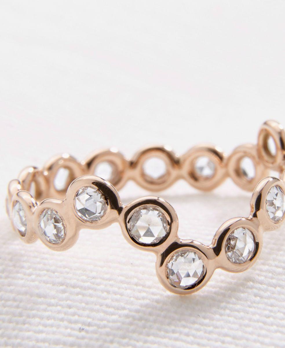 Lito Ring 'Cardio 18' mit Diamanten 18 Kt. Roségold