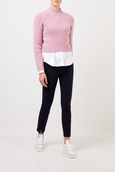 Cashmere Cropped-Sweater Pink