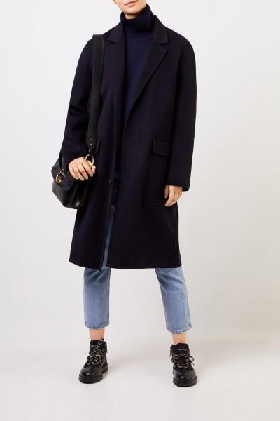 Wool cashmere coat Navy