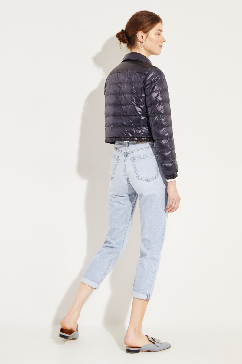 Short Down Jacket Navy Blue