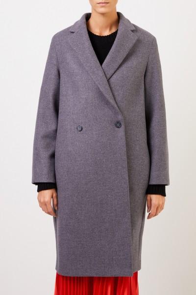 Stella McCartney Langer Woll-Mantel Grau