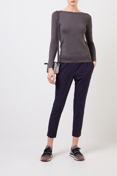 Fine alpaca sweater with lurex details Grey