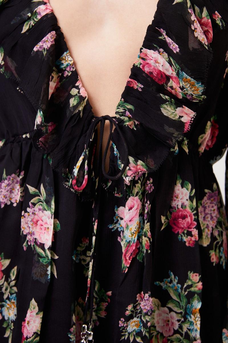 Jumpsuit mit floralem Print Multi