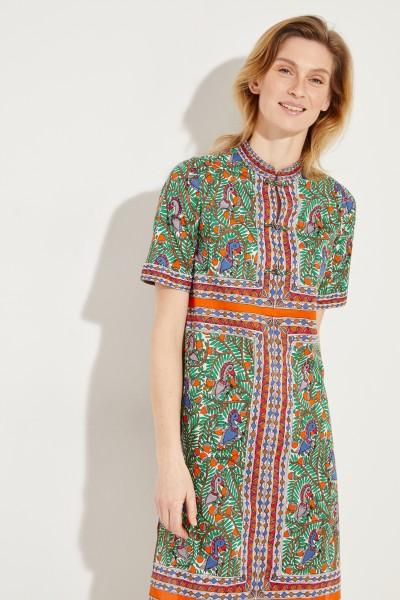 Baumwoll-Kleid mit Print Multi