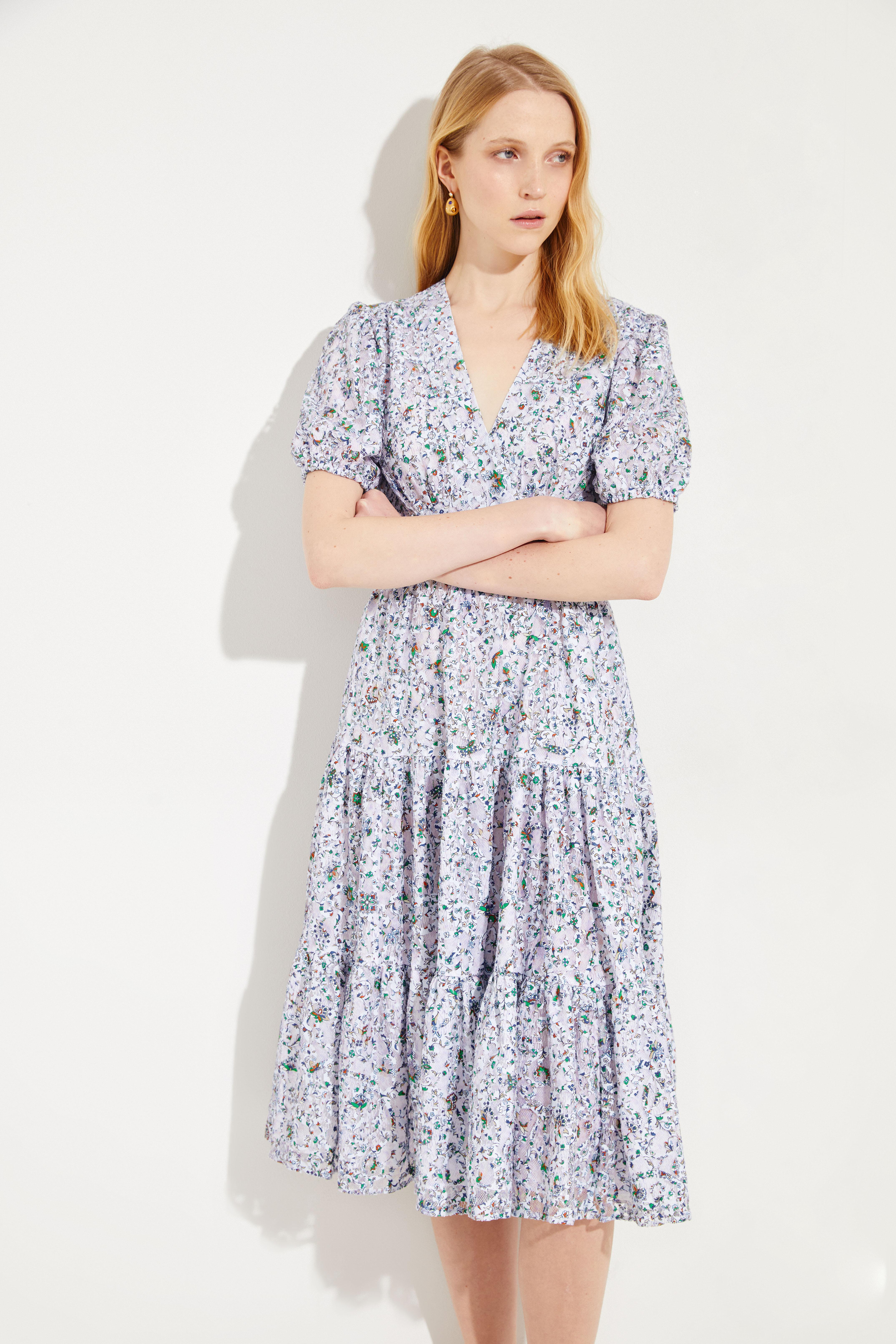 a9f151750a6 Cotton lace dress Blue Multi