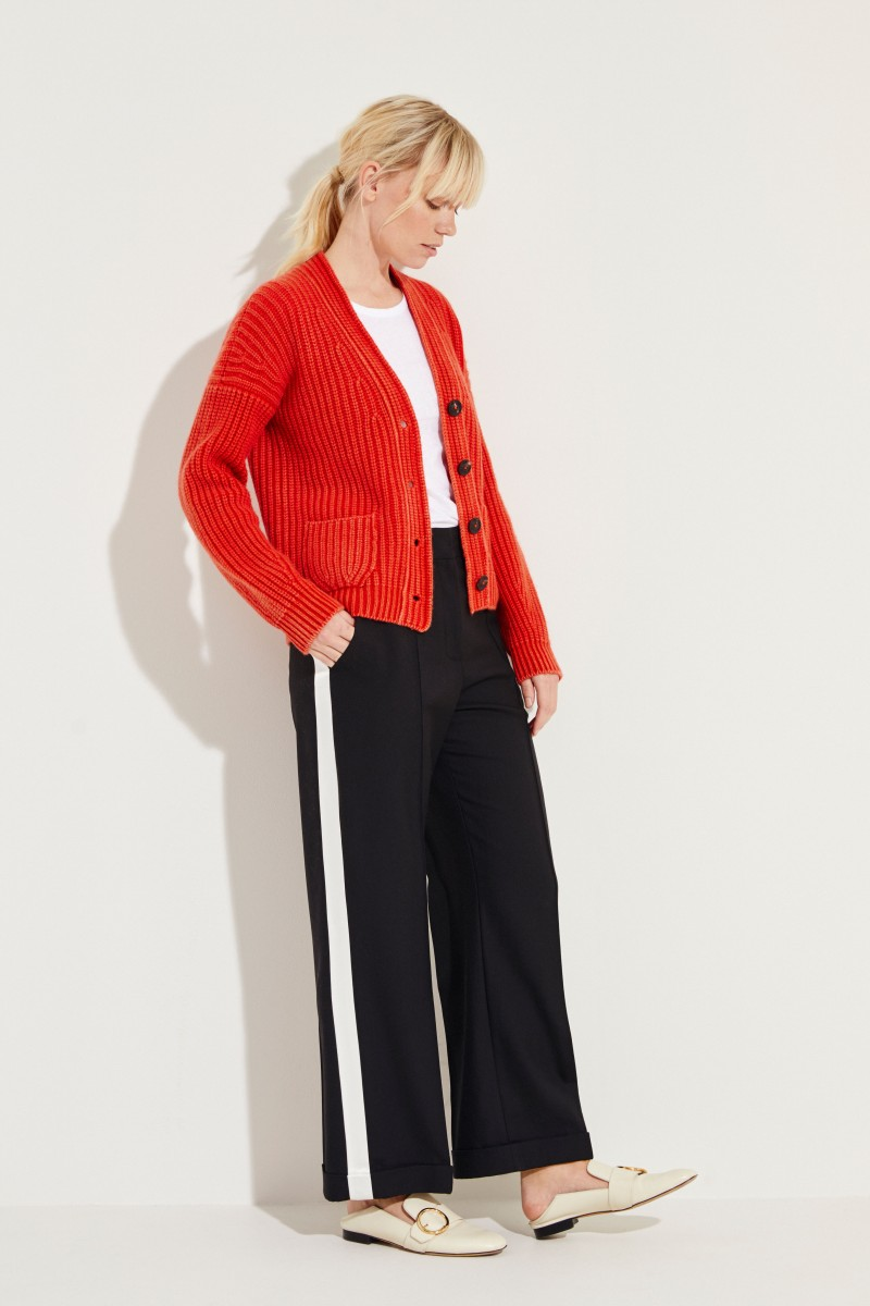 Cashmere-Cardigan 'Maxine' Rot