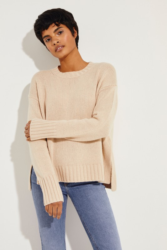 Cashmere Pullover 'Chrissy' Puder