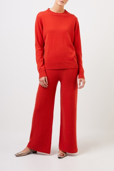 Uzwei Cashmere sweater with rib knit collar Orange