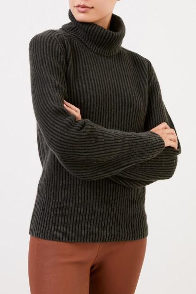Iris von Arnim Cashmere-Pullover 'Seille' mit Rollkragen Dunkelgrün