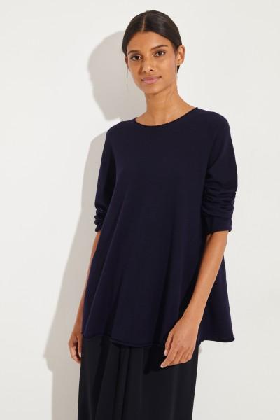 Woll-Pullover 'Sabel' Marineblau
