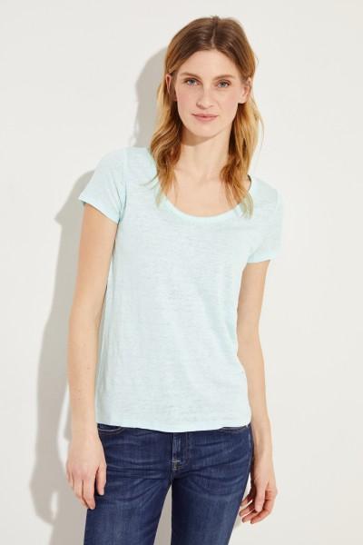 Leinen-Shirt Aqua