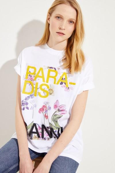 T-Shirt mit Aufdruck Weiß/Multi