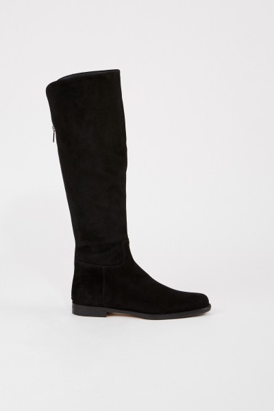Unützer Suede leather boots Black