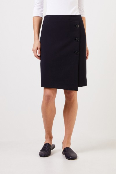 Seductive Pencil skirt 'Lea' with buttons Navy Blue