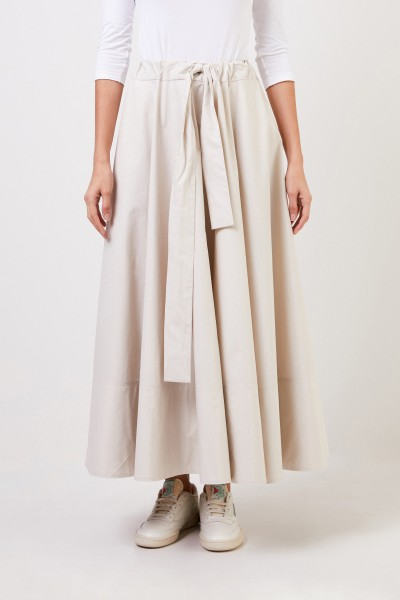 Co Long skirt with tie detail Beige