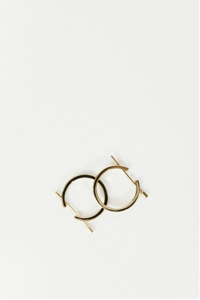 Ina Beissner Earrings 'Chikka Large' with diamonds yellow gold