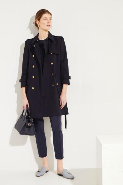 Givenchy Baumwoll-Trenchcoat mit Logo-Knöpfe Blau