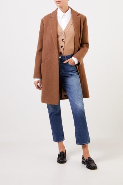 Aspesi Classic cashmere coat Brown