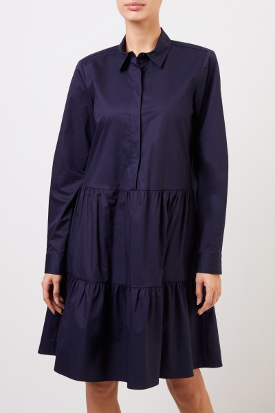 Louis and Mia Short shirt blouse dress navy blue
