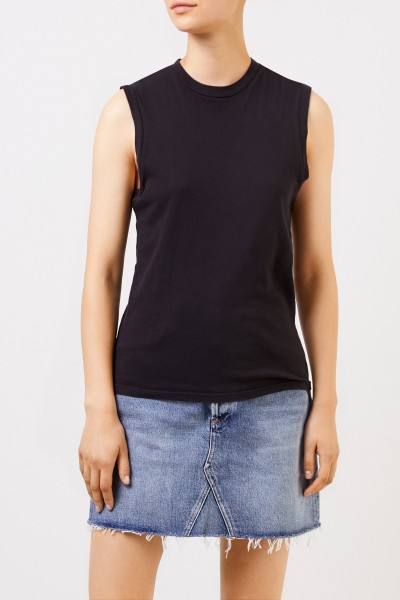 AGOLDE Cotton top 'Muscle Tee' Black