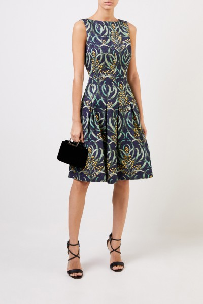 Cocktail dress with floral pattern Blue/Multi