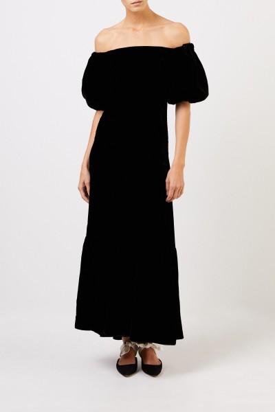 Long velvet dress Black