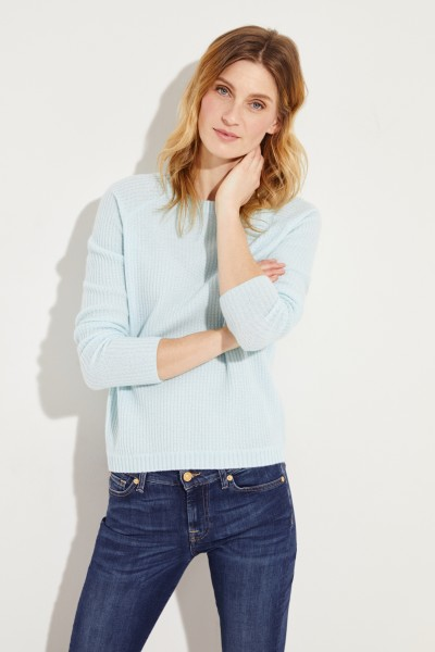 Rippstrick-Cashmere-Pullover Mint