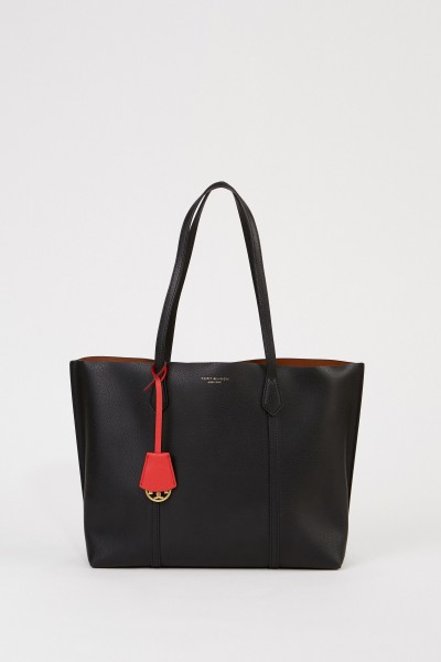 Ledershopper 'Perry Tote Bag' Schwarz