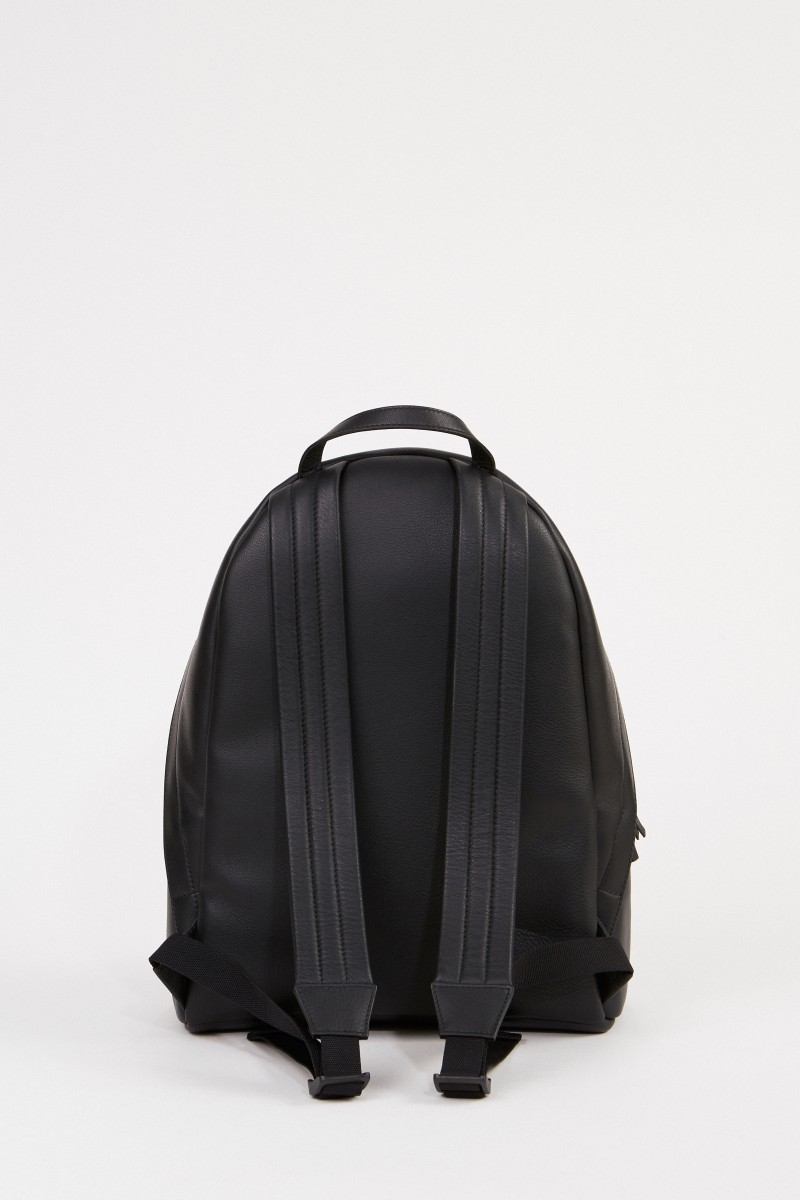 Balenciaga Leder-Rucksack mit Logo Schwarz