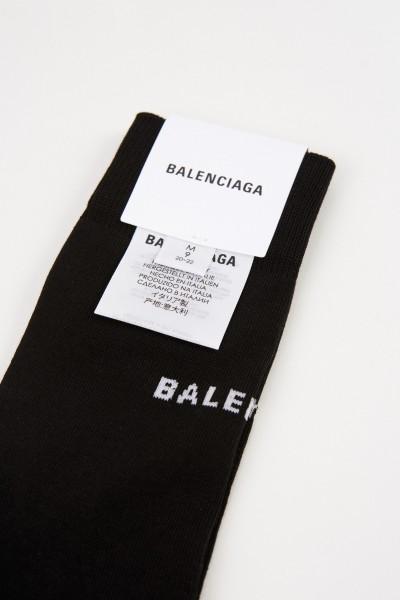 Balenciaga Socken mit Balenciaga-Logo Schwarz