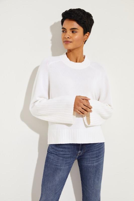 Cashmere-Pullover Weiß