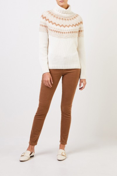 Hand-woven cashmere pullover 'Hereford' Ecur/Camel