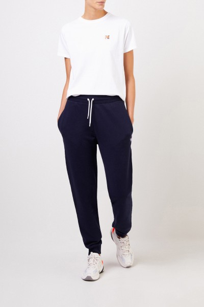 Maison Kitsuné Sweathose 'Tricolor Fox Patch' Marineblau