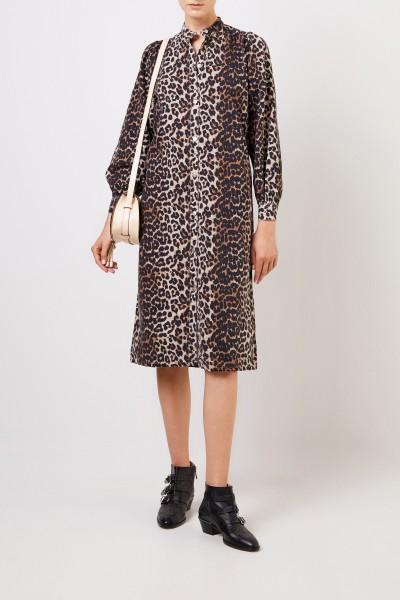 Ganni Dress with leo print Multi